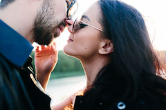 Beautiful young couple looking at each other Royalty Free Stock Photography