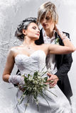 Beautiful young couple in love Stock Photos