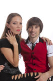 Beautiful young couple in love Royalty Free Stock Photo
