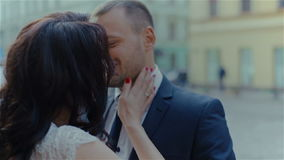 Beautiful young couple love each other stock video footage