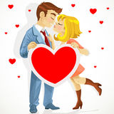 Beautiful young couple in love kissing Royalty Free Stock Photos
