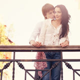 Beautiful Young Couple in Love on nature. Royalty Free Stock Images