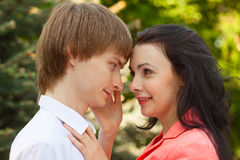 Beautiful young couple in love Stock Photography