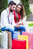 Beautiful young couple in love stock photo