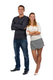 Beautiful young couple in love to his full height стоковая фотография