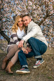 Beautiful young couple royalty free stock photography