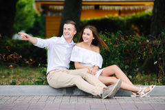 Beautiful young couple makes selfie Royalty Free Stock Photos