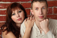 Beautiful Young Couple - Man And Woman Royalty Free Stock Image