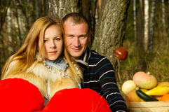 Beautiful young couple in nature Stock Photo