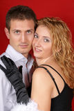 Beautiful young couple portrait Stock Images