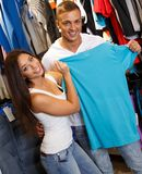 Beautiful young couple  in sport outlet Stock Image