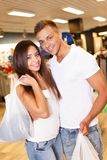 Beautiful young couple  in sport outlet Stock Photo