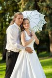 Beautiful young couple on their wedding day Royalty Free Stock Images