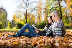 Beautiful Young Couple Using Digital Tablet Stock Image