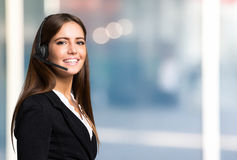 Beautiful young customer representative portrait Royalty Free Stock Photos