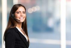 Beautiful young customer representative portrait royalty free stock photos