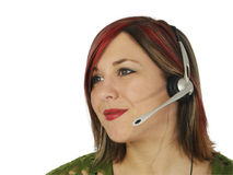 Beautiful Young Customer Service Rep Stock Images