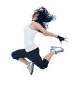 Beautiful young dancer jumping Royalty Free Stock Photo