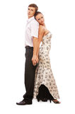 Beautiful young dancers couple Stock Images