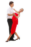 Beautiful young dancing couple Stock Image