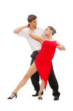 Beautiful young dancing couple Stock Photos