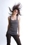 Beautiful young dancing girl Stock Photos