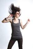 Beautiful young dancing girl Royalty Free Stock Photography
