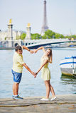 Beautiful young dating couple in Paris Stock Image