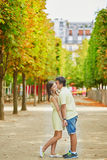Beautiful young dating couple in Paris Royalty Free Stock Photos