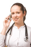 Beautiful young doctor Stock Photos