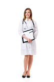 Beautiful young doctor with file folder Stock Photography