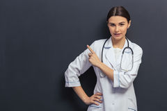 Beautiful young doctor stock photo