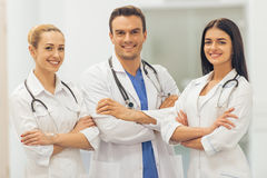 Beautiful young doctors Royalty Free Stock Photos