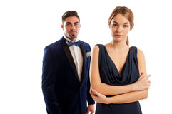 Beautiful young and elegant couple Stock Image