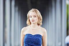 Young woman in Paris outdoors Stock Photos