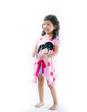 Beautiful young elementary age school girl Royalty Free Stock Photos