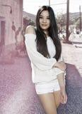 Beautiful young exotic Asian woman royalty free stock photos