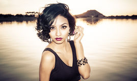 Beautiful young exotic woman Stock Image