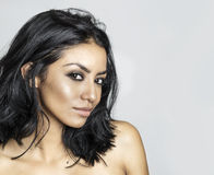 Beautiful young exotic woman's face Royalty Free Stock Image