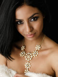 Beautiful young exotic woman wearing dress Royalty Free Stock Images