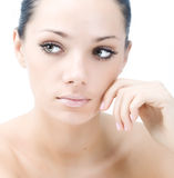Beautiful young face Stock Images