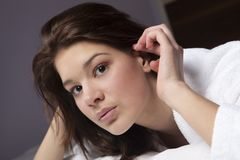 Beautiful Young Face Stock Photo