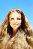 Beautiful young face Royalty Free Stock Photography