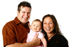 Beautiful young family Royalty Free Stock Photos