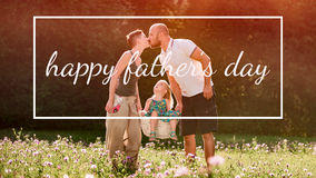 Beautiful young family, Father`s day concept Royalty Free Stock Photos