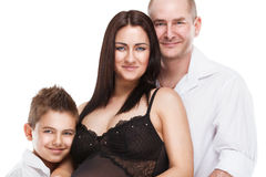 Beautiful young family with little son Stock Photo