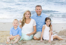 Beautiful young family Portrait Stock Photography