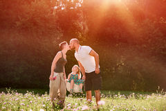 Beautiful young family Stock Photo