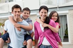 Beautiful young family together Royalty Free Stock Photography