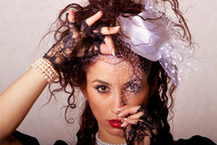 Beautiful young fashin woman Royalty Free Stock Image